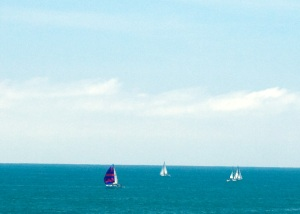 sail boats on the Pacific