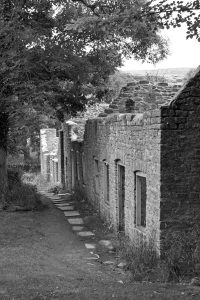 abandoned cottages at Tyneham